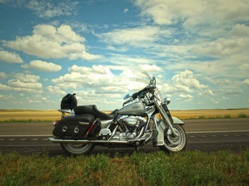 motorcycle on a prairie road