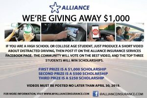Picture with details of a car and words about scholarship.