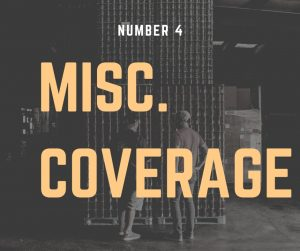 "Sign that reads ""Misc. Coverage."""