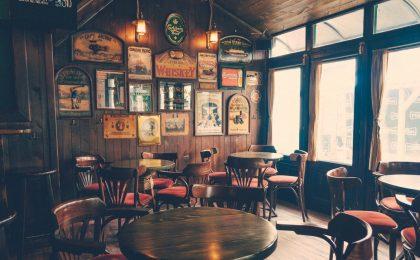 Irish pub on Saint Patrick's Day