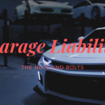 White cars with words that say: Garage Liability