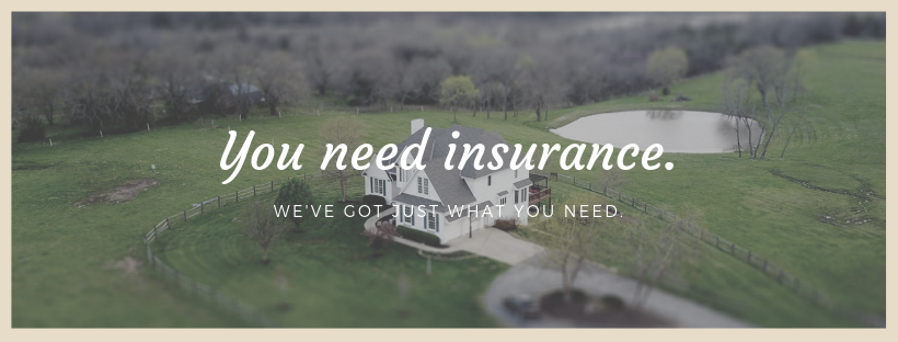 White house on green hill with words: You need insurance. We've got just what you need.