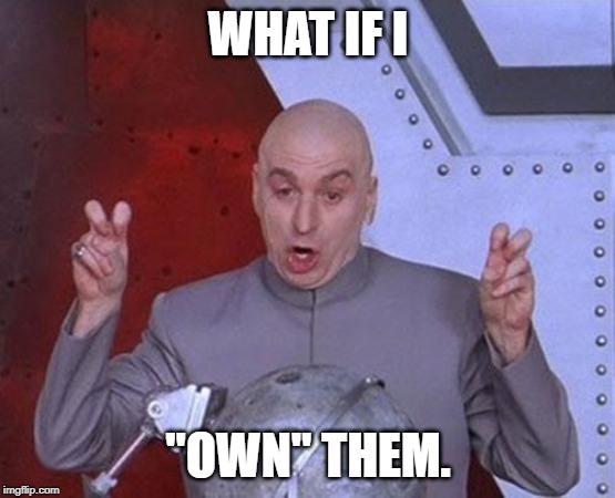 Meme of Dr. Evil talking about dealer insurance.