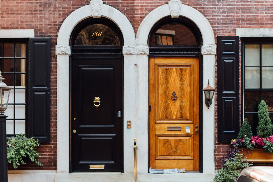 Front rowhouse doors