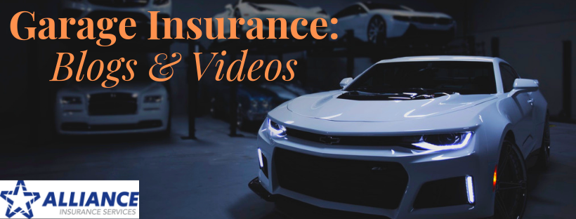 White sports car with sign Garage Insurance: Blogs and Videos