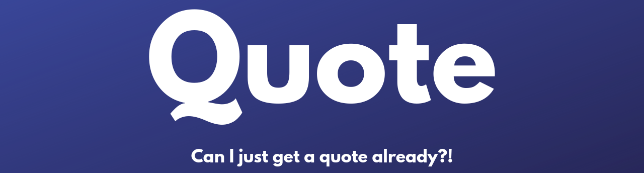 Button that says Quote