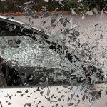 Car window breaking.
