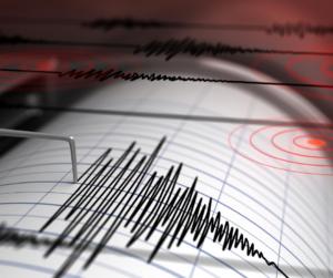 Earthquake detected on graph.