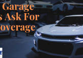 White car with sign that reads: Smart Garage Owners Ask For This Coverage
