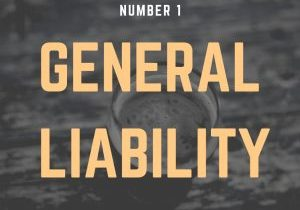 """Sign that reads """"General Liability."""""""